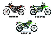 Kawasaki KLX 250 S & DTRACKER D TRACKER 250 Decals Sticker Graphics Kit