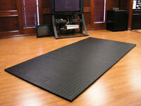 """10'x5'x1.25"""" Dollamur Flexi-Roll® MMA Tatami Texture Mat -Black"""