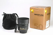 Nikon AF-S 50mm F1.4 G Autofocus Prime Lens + Front & Rear Lens Caps + Hood +Box