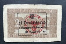 GENUINE NOTE. POLAND 1941  *** 2 zloty *** Cracow *** Polish Bank