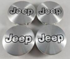 4 Pcs 55mm JEEP Aluminum Black Wheel Center Caps Logo Emblem Badge Hub Rim Caps