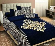 Well Night 500 TC Chenille Bedsheet Cum Bed Spread For Double Bed 2 Pillow Cover