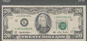 1993 (L) $20 Twenty Dollar Bill Federal Reserve Note San Francisco Vintage Money