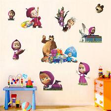 Baby Kids Masha & Bear Cute Cartoon Sticker Wall Multi Use Sticker Room Decor