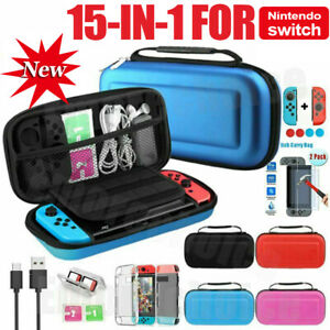 For Nintendo Switch Travel Case EVA Hard Bag+Screen Protector+Cover Accessories