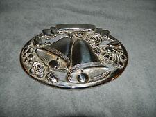 Virginia Metalcrafters 1997 Brass Wedding Bells Trivet