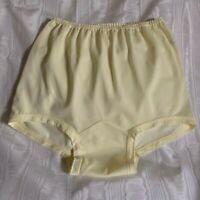 Vintage Madonna Lingerie Yellow Nylon Panties w/Large Dbl. Nylon Gusset. Size XL