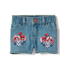 GAP BABY GIRL STRETCH FLORAL EMBROIDERY SHORTY SHORTS NWT 18-24Month NNN