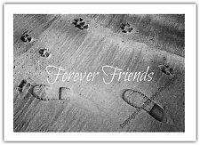 Sympathy Card - Dog Pet Forever Friends Pet Rainbow Bridge Condolences Sad Loss