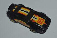 1974 Hot Wheels Porsche P-911 Black Color Malaysia Black Wall Diecast Used Loose