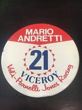 1975 Mario Andretti #21 Viceroy Vel's Parnelli Jones Racing Button Indy 500