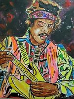 Jimi Hendrix Guitar Rock Icon Purple Haze Woodstock Original Painting Pop Art