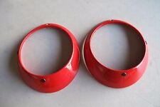 Used Porsche 911 Headlight Ring 1 Pair Red #5