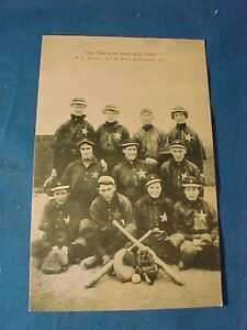 Early 20thc STAR BLOOMERS GIRLS BASEBALL TEAM from INDIANAPOLIS Photo POSTCARD