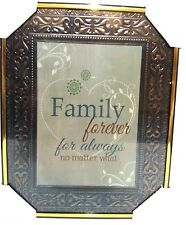 FAMILY forever for always  Inspirational Wall Picture, Wall Plaque (NEW)