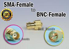 Gold SMA-F to BNC female adapter UV-5R UV-B5 UV-B6 TH-UVF1 TH-UVF8D FD-880 radio