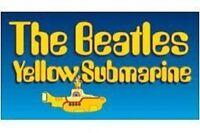 BEATLES sub logo oblong 2009 VINYL STICKER official merchandise