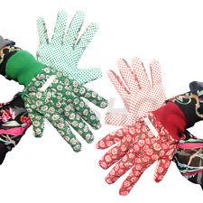 2 X Ladies Women Designer Floral Gardening Garden Gloves General Working Gloves
