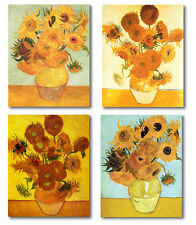 Van Gogh 4 Stretched Canvas Repros 12 Sunflowers, Still Life with Sunflowers...