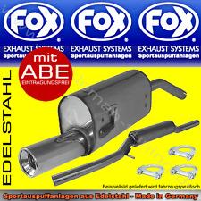 FOX AUSPUFFANLAGE OPEL CORSA A 1x90 1.2l 1.3l 1.4l 1.6l GSI