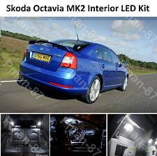DELUXE SKODA OCTAVIA MK2 2004-2013 INTERIOR LED LIGHT KIT XENON WHITE BULBS