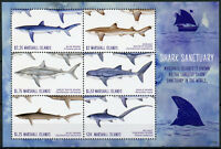Marshall Islands 2018 MNH Shark Sanctuary Great White Whale Sharks 6v M/S Stamps