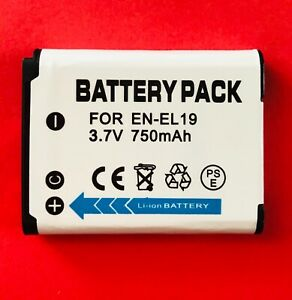 N-EL19 ENEL19 Battery for Coolpix A100 A300 S100 S2500 S2550 S2600 S2700