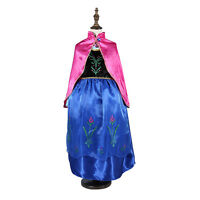Kids Girls Frozen Queen Elsa & Anna Princess Cosplay Costume Party Fancy Dresses