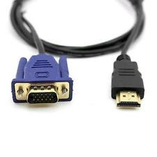 Hot 15FT 1080P HDMI Male to 15Pin VGA Male Converter Moniter Cable Cord for HDTV