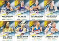 #TeamGirls Medhurst Mentor Tippett Green 2018 Super Netball 8 Card Set