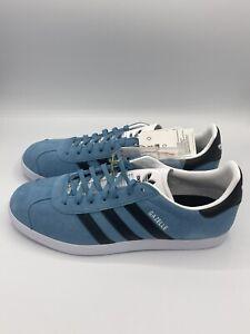 adidas Originals Gazelle Shoes Men's Casual Skate Suede Sneaker Hazy Blue Black