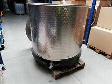 1150 Liter V2A Behälter  mit Deckel ohne Rührwerk DN 50 Auslauf