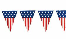 USA Flag 4th of July Decor Hanging Pennant Banner Flag Homecoming Party 24 Feet