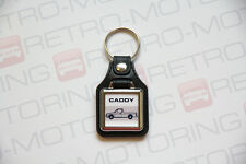 VW Caddy Keyring - Golf Mk1 Pickup Truck - Leatherette Classic Retro Car Keytag