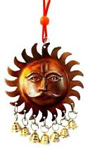 Sun Man Surya Wall Hanging Hindu Suraj Devta Sun Chime Bells Dosha Protect