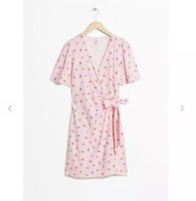 And Other Stories Floral Printed Mini Pink Wrap Dress 6