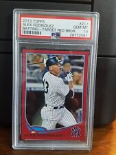 2013 Topps Target Red Alex Rodriguez Yankees Baseball Card #213 PSA 10 Gem POP 1