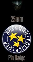RACOON CITY POLICE LOGO 25mm BADGE Resident Evil Biohazard RE Image