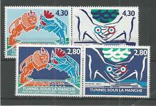 FRANCE 1994 OPENING CHANNEL TUNNEL SG,3203-3206 UN/MM NH LOT 5878A