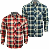 Mens Printed Flannel Checked Shirt Washed by Tokyo Laundry 'Veracruz'