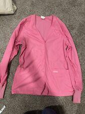 Peaches Pink Womens Scrub Top Long Sleeve Medium Large