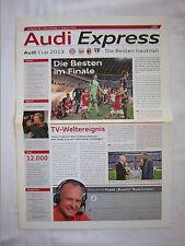 Orig.PRG   AUDI Cup 2013  in München 01.08. - 3.Platz Spiel + FINALE  !!  SELTEN