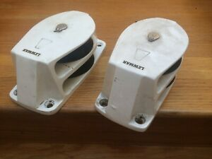 LEWMAR 1 Pair Size 5 Double Foot Block Part No.19853500 White Powder coated G3