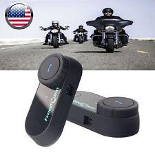 2x BT 800M Motorcycle Intercom Bluetooth Communication Headset Helmet Speaker FM