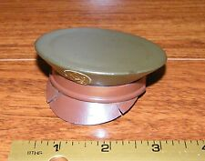 Vintage Wwii Us Army Officer Green & Brown Cap / Hat Make Up Compact *Read*