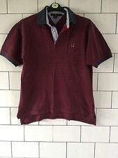 MENS VINTAGE RETRO TOMMY HILFIGER SHORT SLEEVE STRIPE POLO TOP T SHIRT M #110