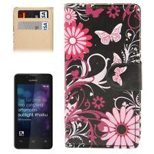 CUSTODIA FINTA PELLE COVER CASE PER SMARTPHONE HUAWEI Y300/T8833 HWE-49