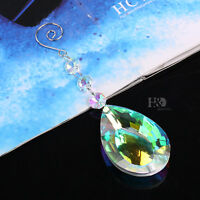 Colorful Hanging Rainbow Suncatcher Glass Crystal Prism Feng Shui Pendants 76mm