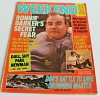 Weekend Magazine Read all about Ronnie Barker Secret Fear Dated May 1978 VTG Con