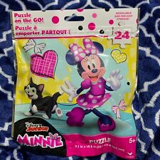 Minnie Mouse Puzzle 24 Piece Kids On The Go Resealable Bag
